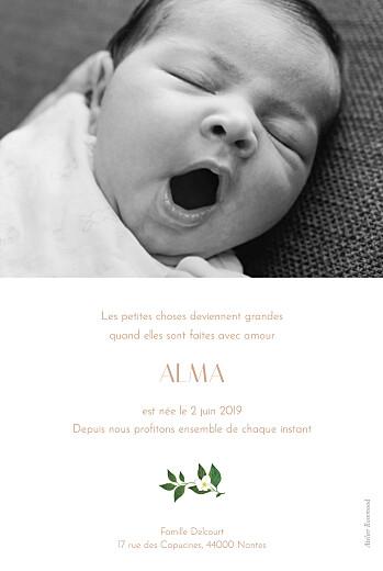 Faire-part de naissance Lettres fleuries rose - Page 2