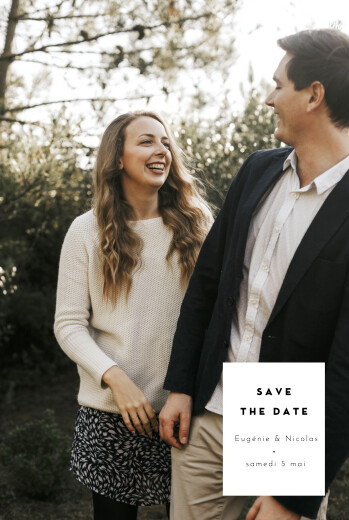 Save the Date Cartouche blanc