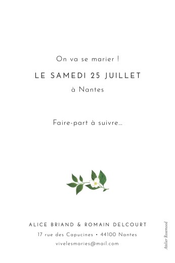 Save the Date Lettres fleuries blanc - Page 2