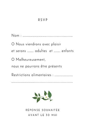 Carton réponse mariage Lettres fleuries blanc - Page 2
