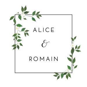 Carton d'invitation mariage Lettres fleuries blanc