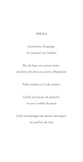 Menu de mariage Lettres fleuries blanc - Page 3