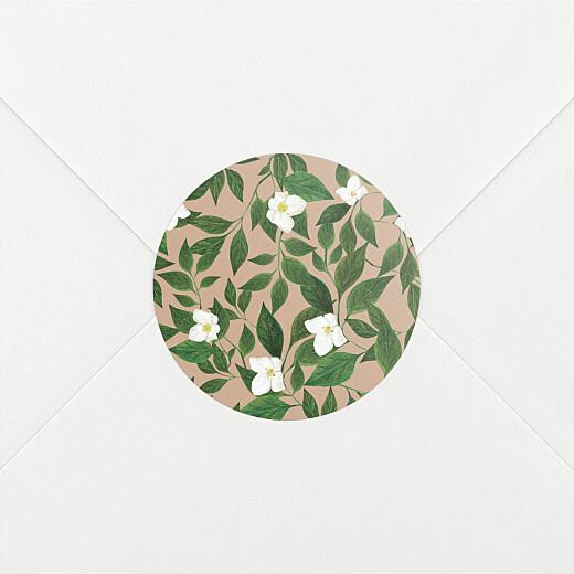 Stickers pour enveloppes naissance Lettres fleuries rose - Vue 2