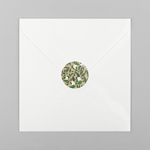 Stickers pour enveloppes naissance Lettres fleuries rose - Vue 1