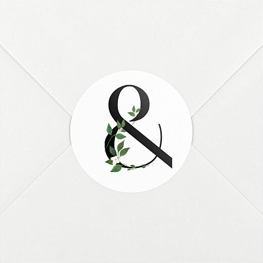 Stickers pour enveloppes mariage Lettres fleuries (esperluette) blanc - Vue 2
