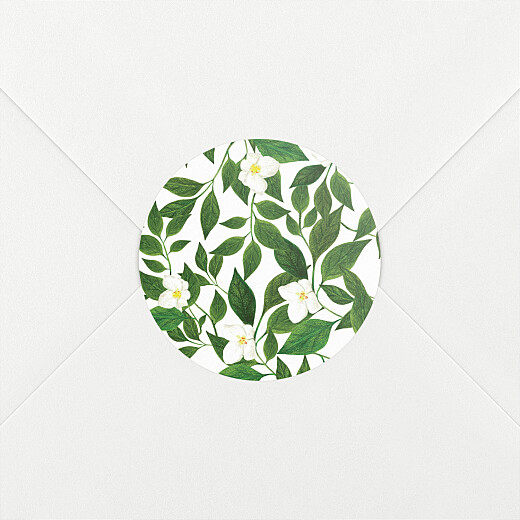 Stickers pour enveloppes mariage Lettres fleuries blanc - Vue 2