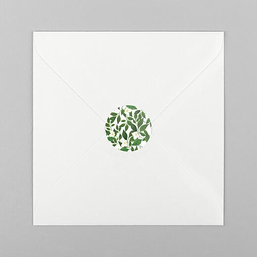 Stickers pour enveloppes mariage Lettres fleuries blanc - Vue 1