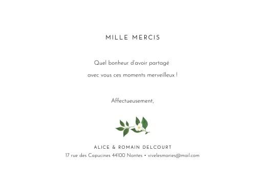 Carte de remerciement mariage Lettres fleuries blanc - Page 3