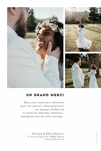 Carte de remerciement mariage Cartouche blanc - Page 2