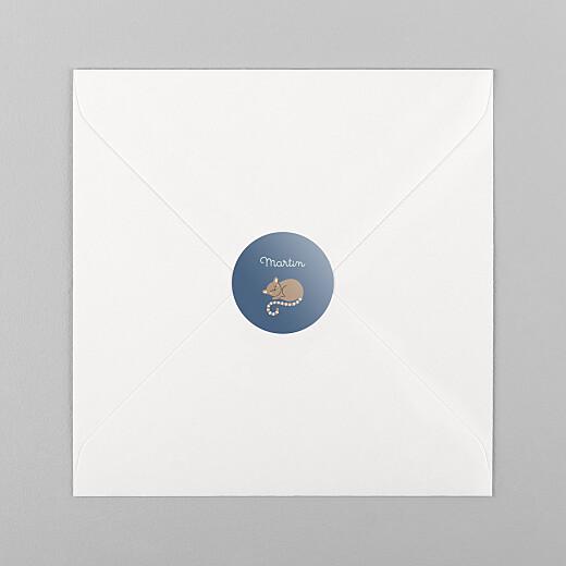 Stickers Naissance La famille des animaux bleu - Vue 1