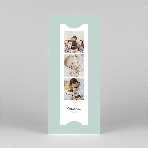 Faire-part de naissance La famille des animaux (marque-page) bleu - Vue 3