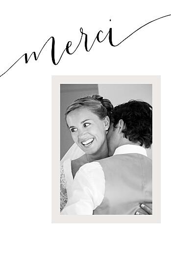 Carte de remerciement mariage Doux souvenir blanc