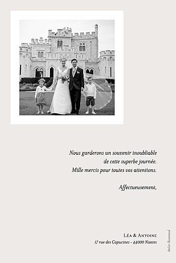 Carte de remerciement mariage Doux souvenir blanc - Page 2