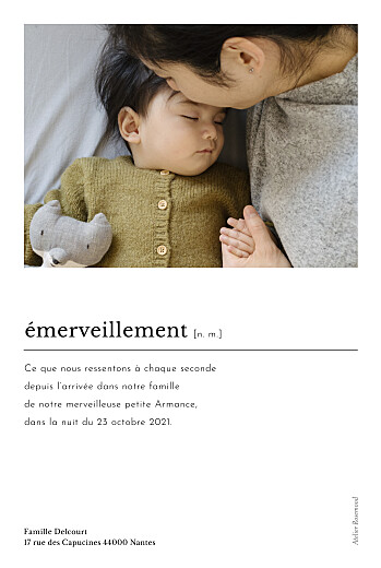 Faire-part de naissance Édito (multi photos) blanc - Page 2