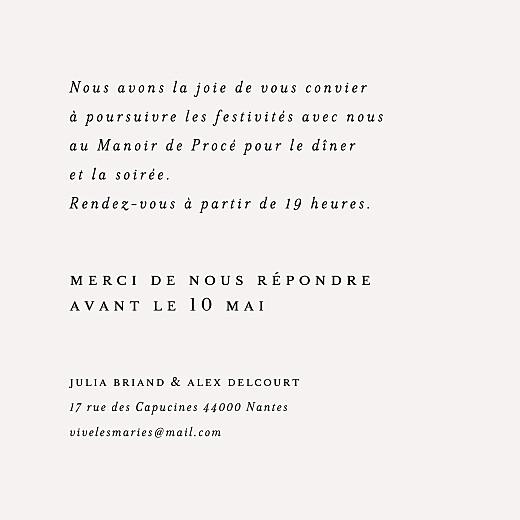 Carton d'invitation mariage Jeune pousse (carré) beige - Page 2