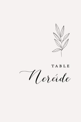 Marque-table mariage Jeune pousse beige