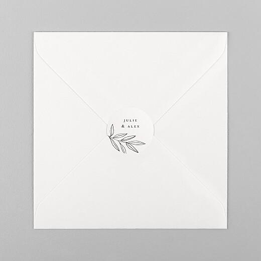 Stickers pour enveloppes mariage Jeune pousse beige - Vue 1