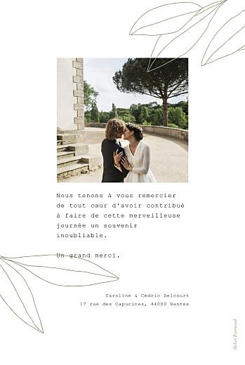 Carte de remerciement mariage Saison vert - Page 2