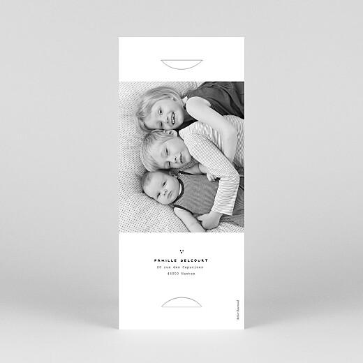 Faire-part de naissance Ma famille et moi 3 enfants (marque-page) blanc - Vue 4