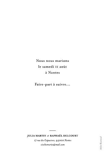Save the Date Tout simplement (portrait) blanc - Page 2