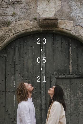 Save the Date Minimal blanc