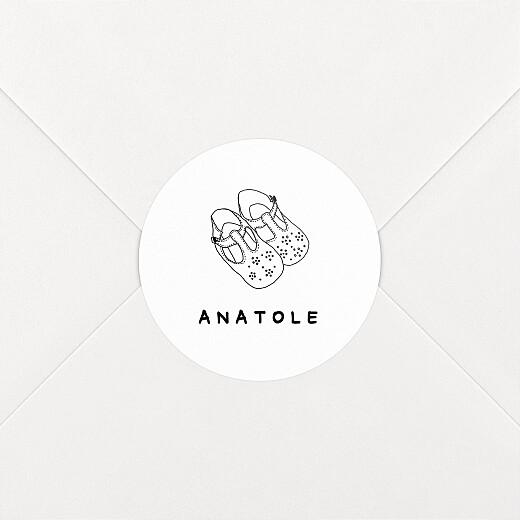Stickers pour enveloppes naissance Ma famille et moi blanc - Vue 2