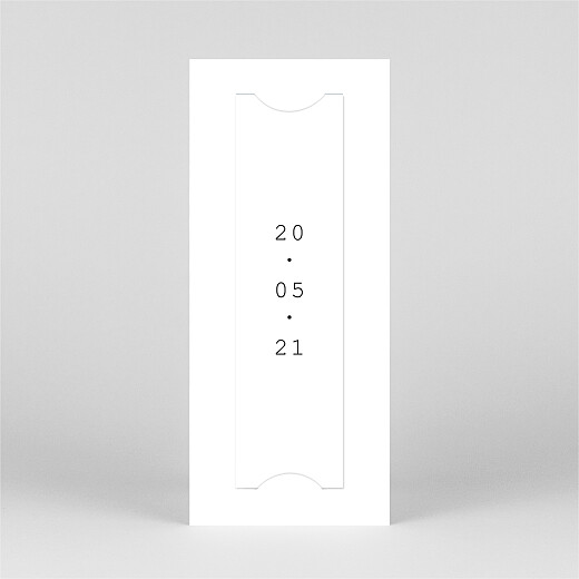 Save the Date Minimal (marque-page) blanc - Vue 3