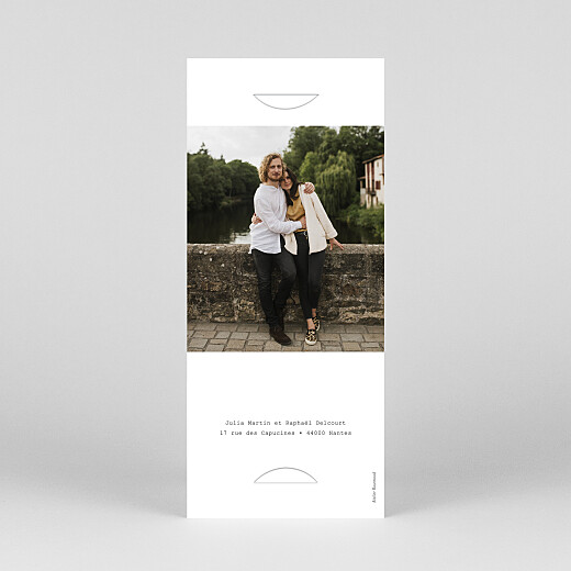 Save the Date Minimal (marque-page) blanc - Vue 4
