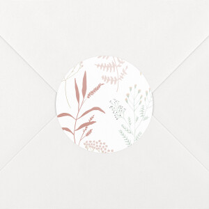 Stickers pour enveloppes naissance Liberty feuillage rose