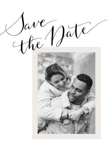 Save the Date Bel avenir blanc