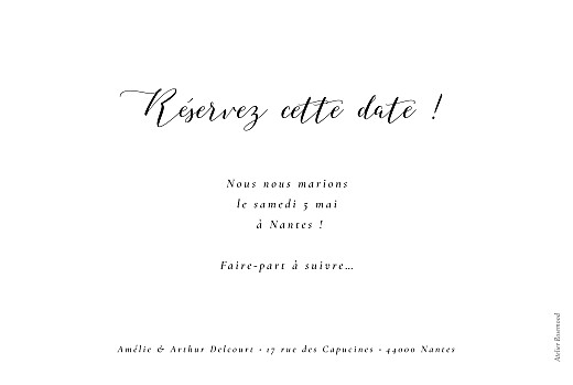 Save the Date Bloomy blanc - Page 2