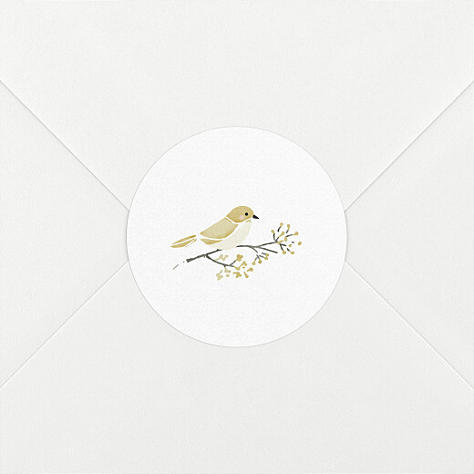 Stickers pour enveloppes naissance Mon petit trousseau beige - Vue 2