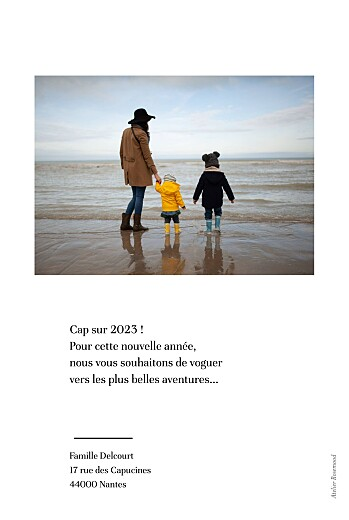 Carte de voeux Happy year blanc - Page 2