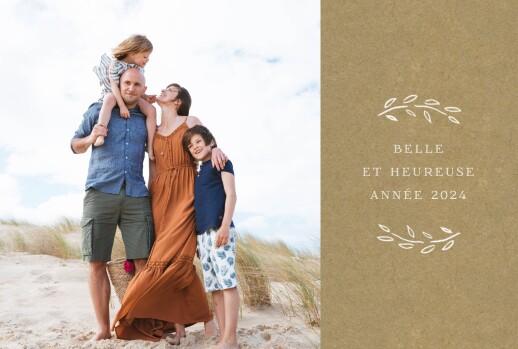Carte de voeux Poème recto-verso kraft