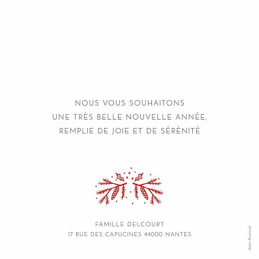 Carte de voeux Bouquet rouge blanc & rouge - Page 2