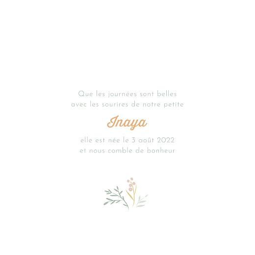 Faire-part de naissance Brin d'été vert - Page 3