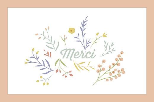 Carte de remerciement Brin d'été abricot