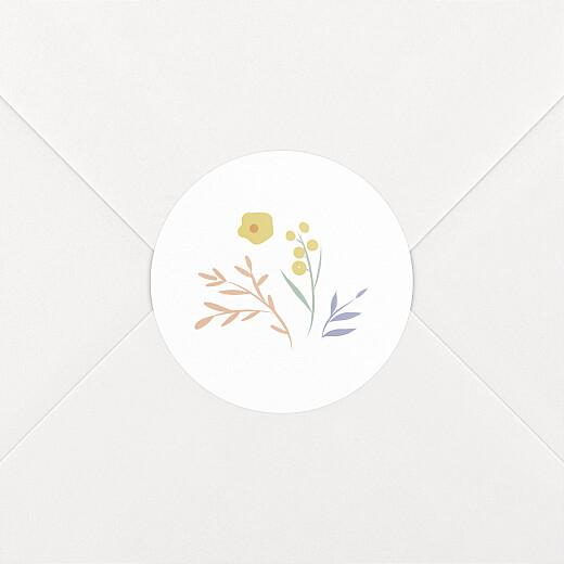 Stickers Naissance Brins d'été abricot - Vue 2