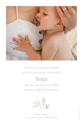 Faire-part de naissance Brins d'été (portrait) abricot - Page 2