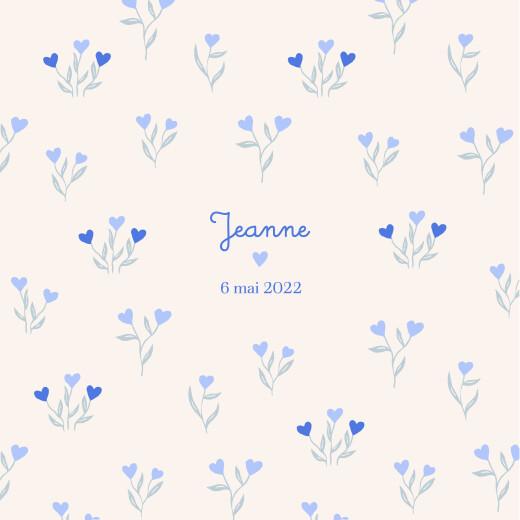 Faire-part de naissance Jardin de flœurs bleu