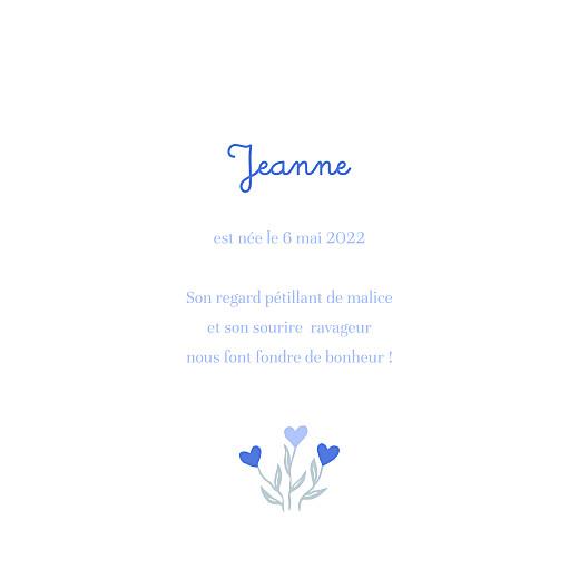 Faire-part de naissance Jardin de flœurs bleu - Page 3