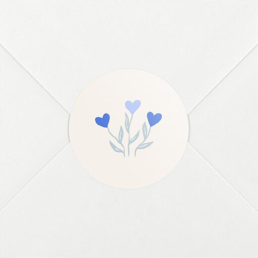 Stickers Naissance Jardin de flœurs bleu - Vue 2