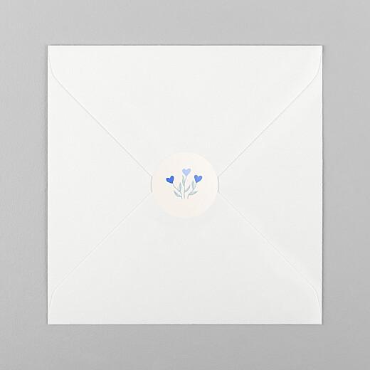 Stickers Naissance Jardin de flœurs bleu - Vue 1