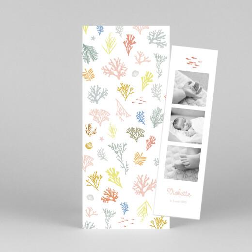 Faire-part de naissance Jolis coraux (marque-page) rose - Vue 1