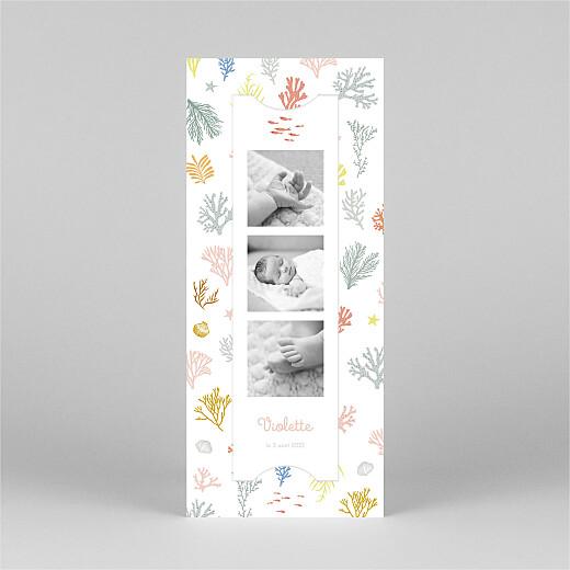 Faire-part de naissance Jolis coraux (marque-page) rose - Vue 2