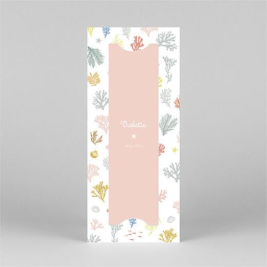 Faire-part de naissance Jolis coraux (marque-page) rose - Vue 3