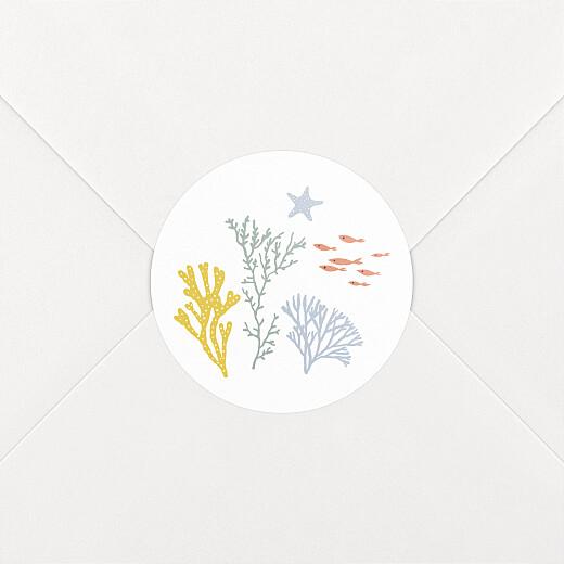 Stickers pour enveloppes naissance Jolis coraux jaune - Vue 2