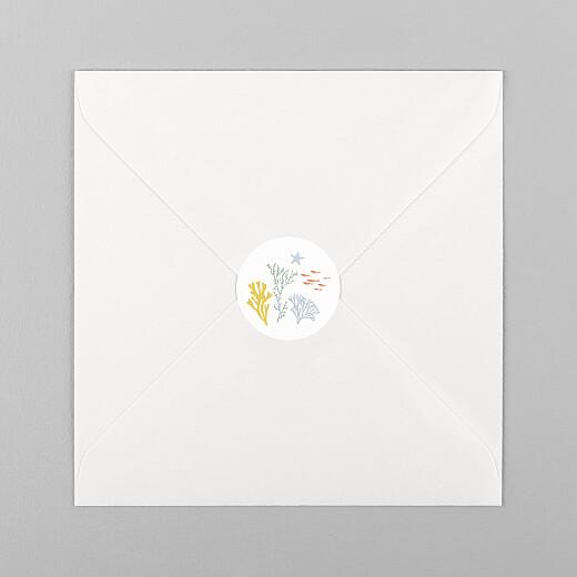 Stickers pour enveloppes naissance Jolis coraux jaune - Vue 1