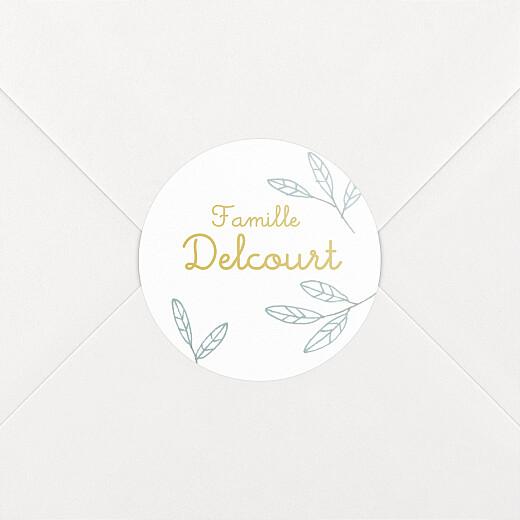 Stickers pour enveloppes naissance Ronde des champs bleu - Vue 2