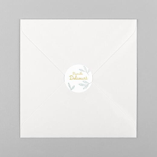 Stickers pour enveloppes naissance Ronde des champs bleu - Vue 1